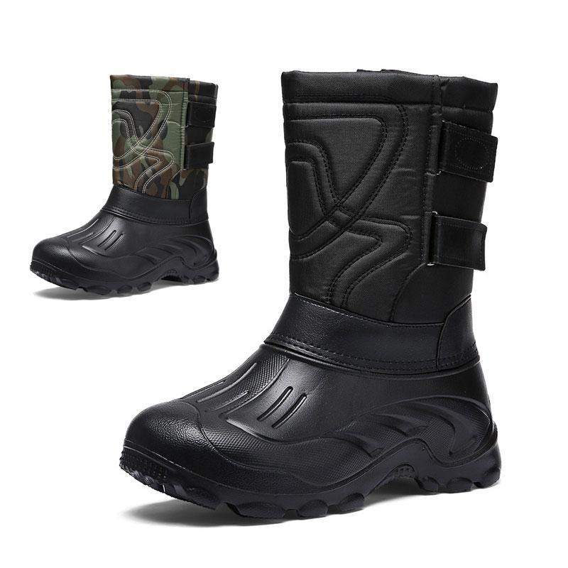 الشتاء للماء أحذية الرجال منتصف العجل الأحذية الذكور هوك حلقة الثلج التمهيد في الهواء الطلق الأحذية zapatillas hombre زائد الحجم 46 # 3