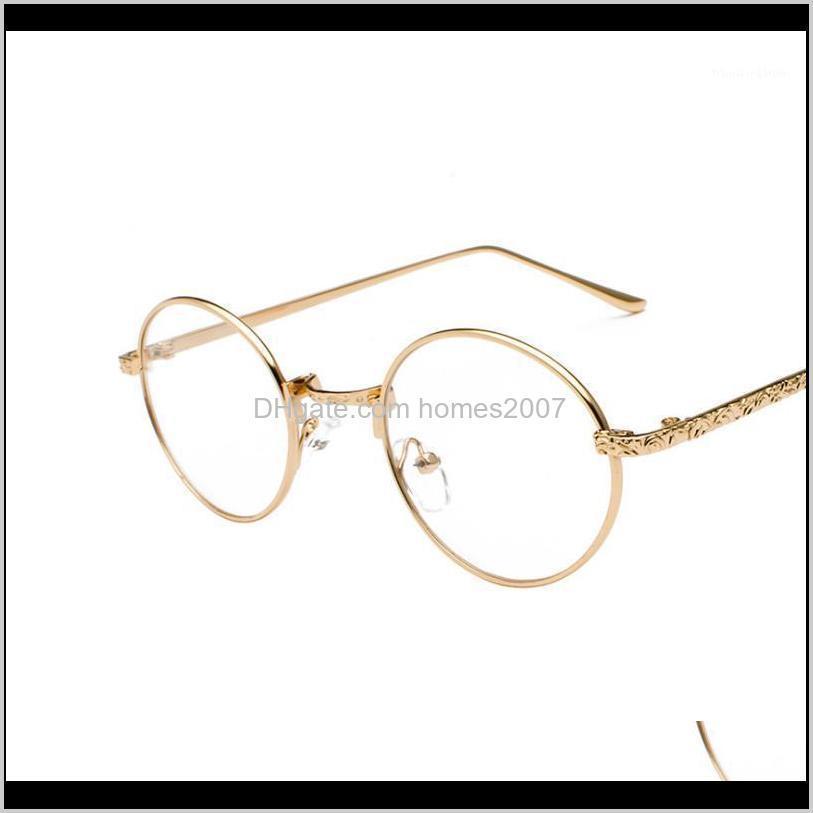 Gafas de sol Marcos Eyewear Aessories Aesoramiento De Moda Aesoramiento alto Frame Femenino Versión coreana Retro Redondo Cara Planeada Peligrafía Completa Myopia Glas