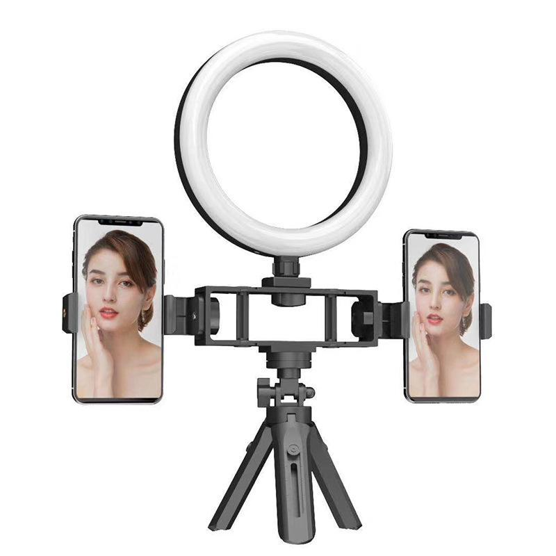 Smart Home Control LED Ring Light POGY Beleuchtung Selfie Lampe USB dimmbar mit Stativ für YouTube Makeup Video Live PO Studio