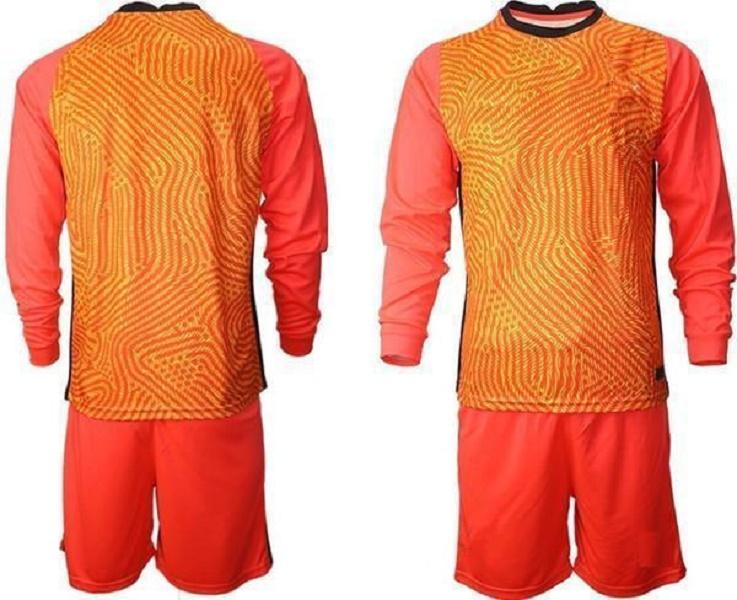 사용자 정의 모든 국가 팀 골키퍼 축구 유니폼 남자 긴 소매 골키퍼 유니폼 키즈 GK 어린이 축구 셔츠 키트 08