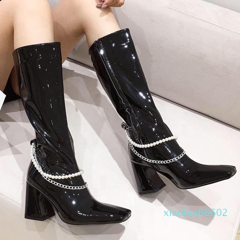 Designer Fashion Square Toe Ladies Booties