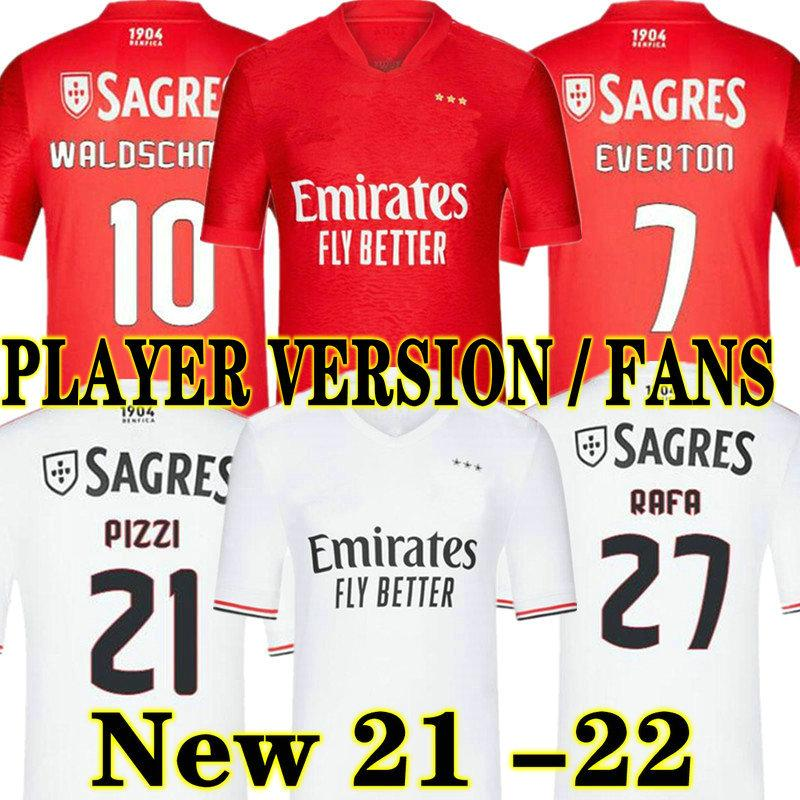 Neue 2020 2021 SL Benfica Pizzi Fußball-Trikots 20 21 Waldschmidt SEEFEROVIC TODIBO VERTONGHEN RAFA A.ALMEIDA Männer Kinder Fußballhemd