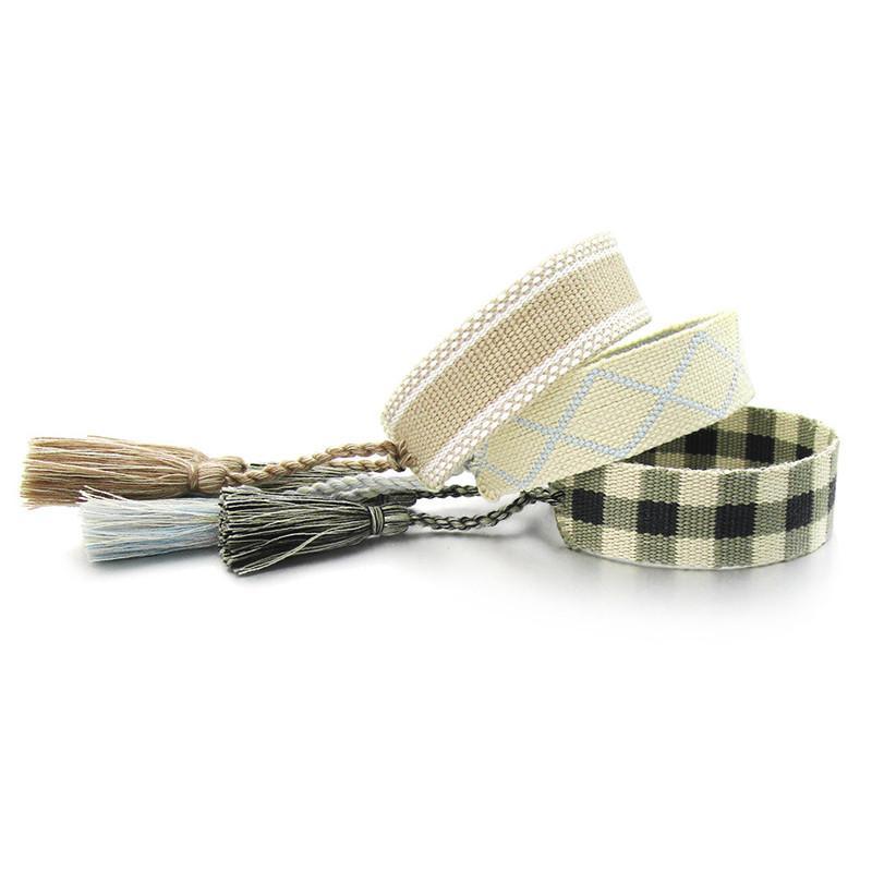 Braccialetto a mano a mano in tessuto doppio lato corda in stile americano in stile americano in stile americano