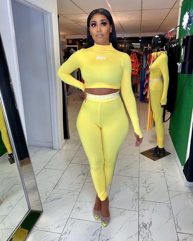Sports Suit C6va Pieces Letter Print Fashionable Clothing Streetwear Turtlenecks Suits Sport Jogging Women's 2 Set Two