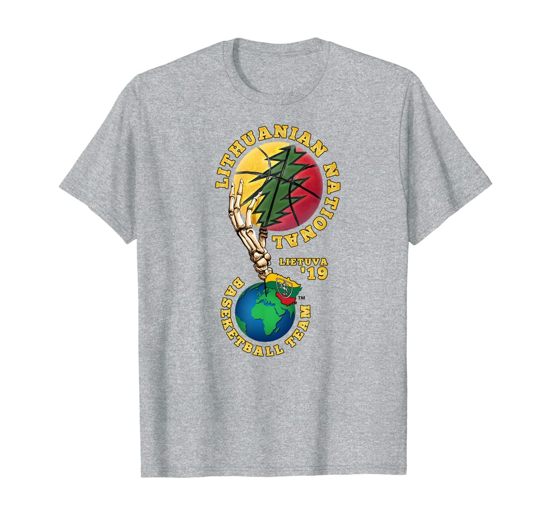 Lithuania National Basketball Team Vytis Skeleton Hand T-Shirt