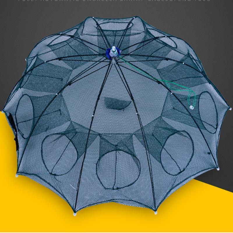 Dobrável portátil hexagonal 4/6/8/10/12 buraco coletor de camarão automático de pesca peixes de peixe caranguejo isca de lança armadilha