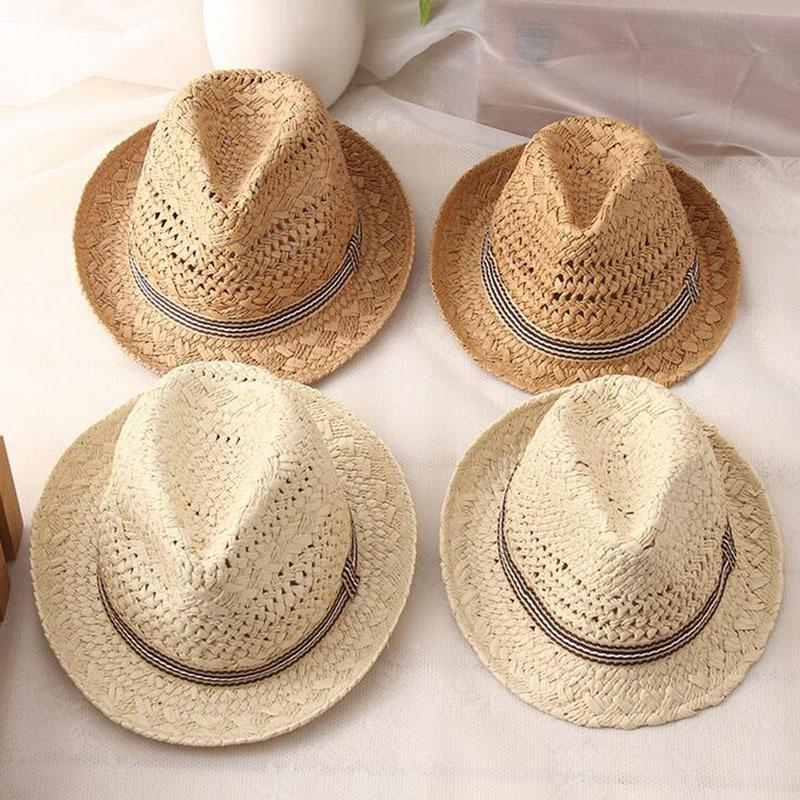 Estilo tapa borla jazz verano hombres moda mujeres hueco paja sombrero casual playa panama gorras de sol