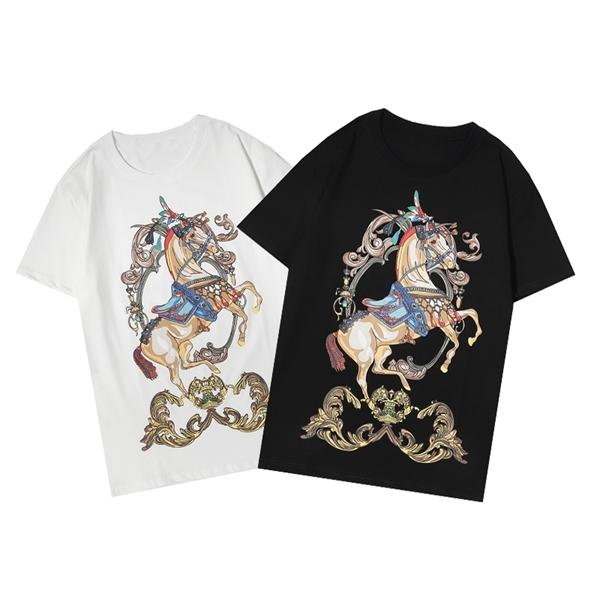 Summer new trendy brand T-shirt short-sleeved fashion all-match men and women with the same style20q