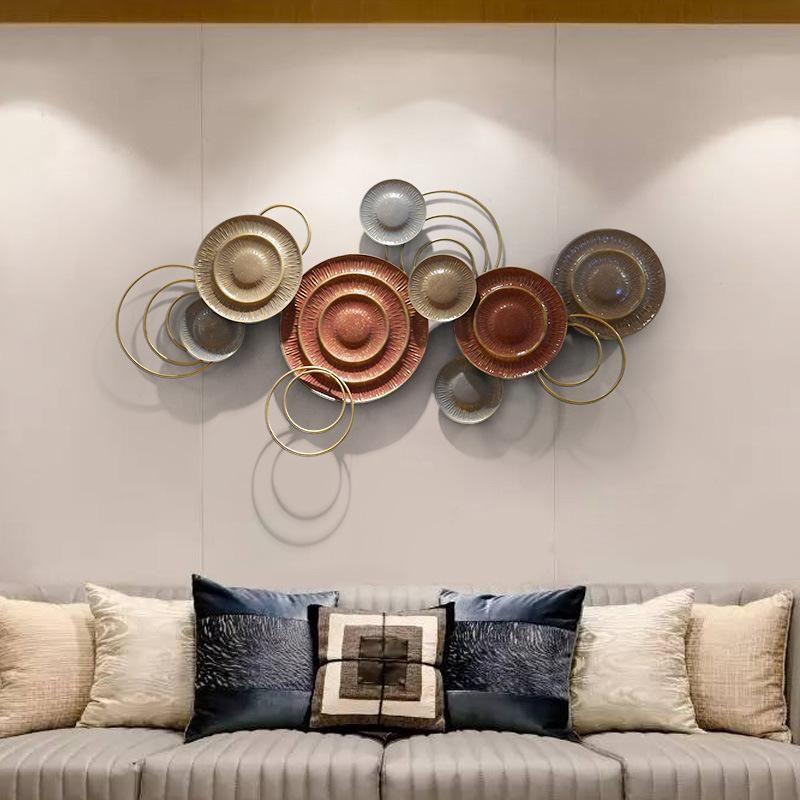 Objetos decorativos figuras simples estilo europeu sala de estar fundo decoração de parede pingente criativo ferro forjado pendurado handmade t