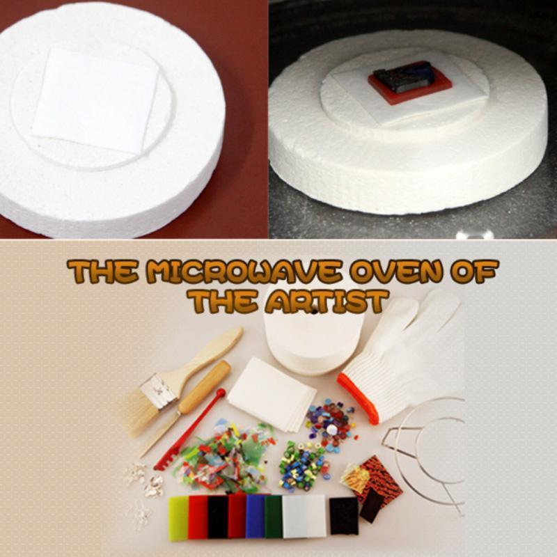Vetro fusione di carta in fibra di ceramica microonde forno forno strumenti domestici 0,1 cm spessore quadrato 10 20 50 fogli 1 set artigianato