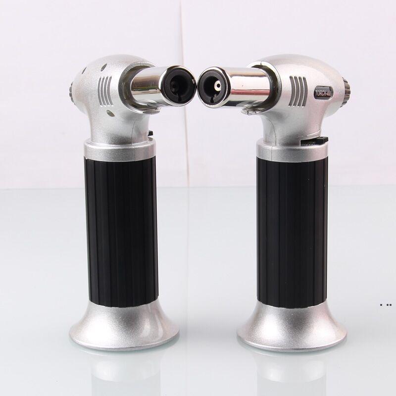 새로운 1300C 부탄 스코치 토치 제트 화염 라이터 요리 재충전 가능한 조정 불꽃 주방 가벼운 점화 스프레이 건 피크닉 도구 HWA4469