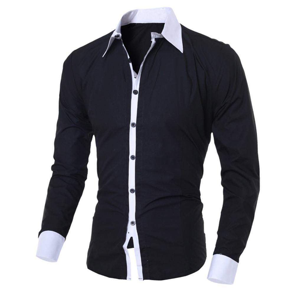 Homme Casual Slim Chemise à manches longues Top 2020 Mode Nouvelle Arrivée Personnalité Sinild Slim Hommes Vêtements Camisa Masculina L0322