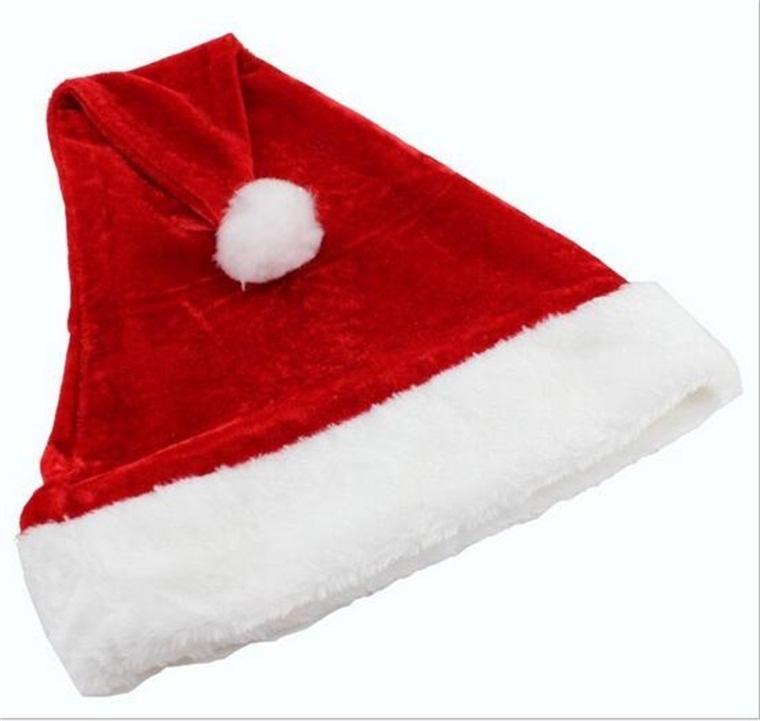 Chapeau de Noël Super Soft Soft De Noël Velvet Peluche Santa Claus pour la décoration Festival de fête de haute qualité