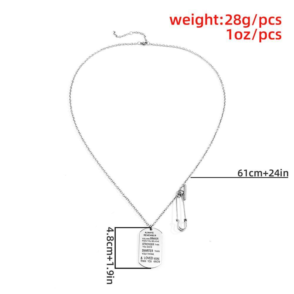 Collar de gargantilla de acero inoxidable para mujer Collares de color plata Colgante Collar de cadena larga Unisex Hip Hop Jewelry