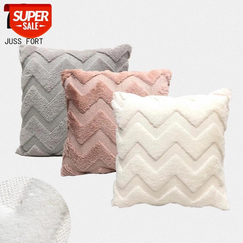 Funda de cojín de decoración de franela Beige / Pink / Grey Funda de almohada Fundas para cama para casas sofá sofá decoración de coche lanzar funda de almohada 43x43cmshipment # fx6f