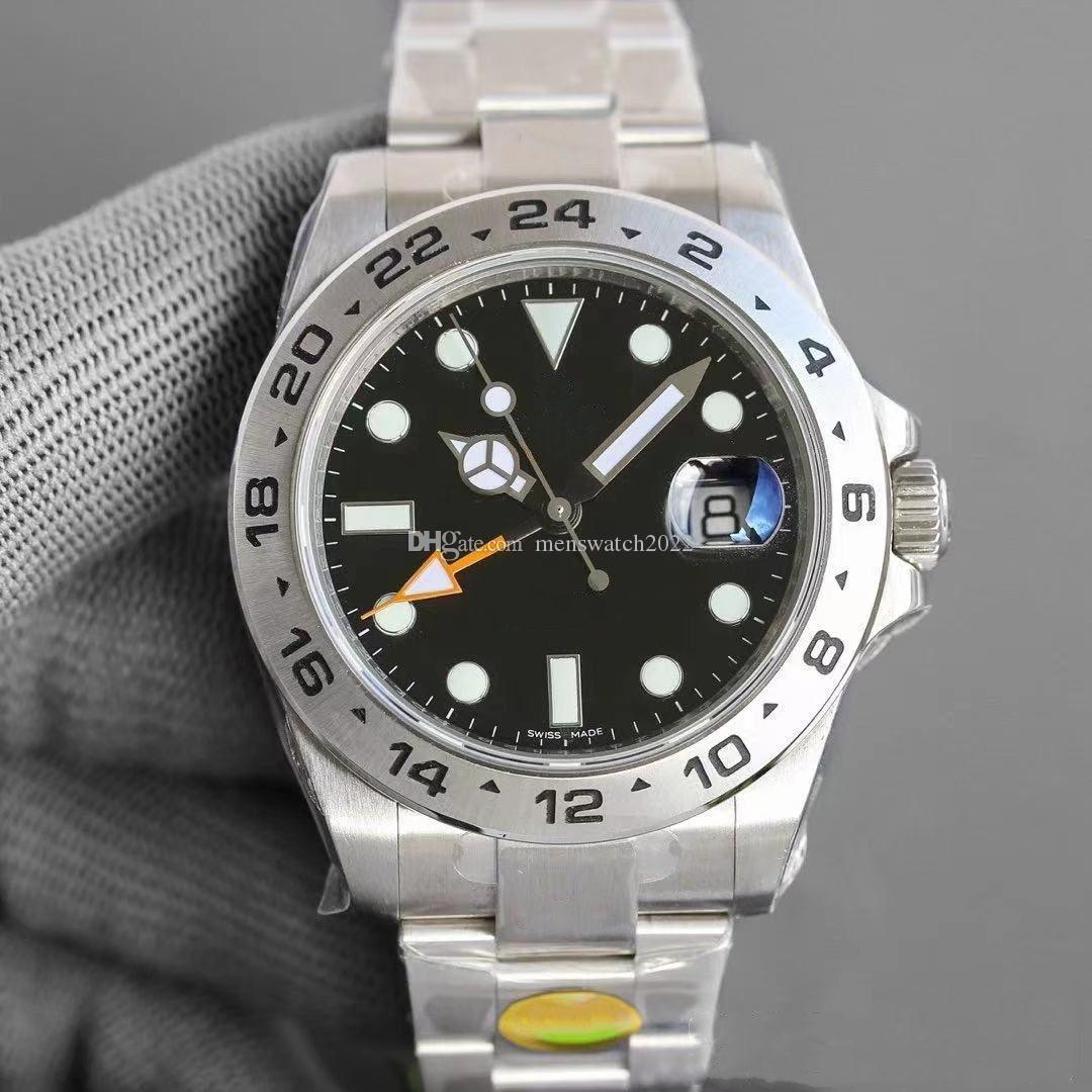 Высокое Качество Случайный 40 мм Керамические Кольца Мужские Часы Опт Двойной часовой часы Часы из нержавеющей стали 316L Мода Женская Наручные Часы Box Boak