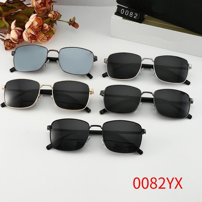 Óculos Oval dirigindo homens sombra 0082 verão design homem óculos de sol quadrados quadrados estilo vintage uv 400 protetora ao ar livre eyewear retrô wx15