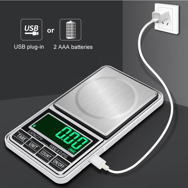0.01g mini pocket Digital Scales Green backling Electronic Case Postal For Tobacco Kitchen Food Jewelry Weight Healthy Gram Balance Scale Batteries included