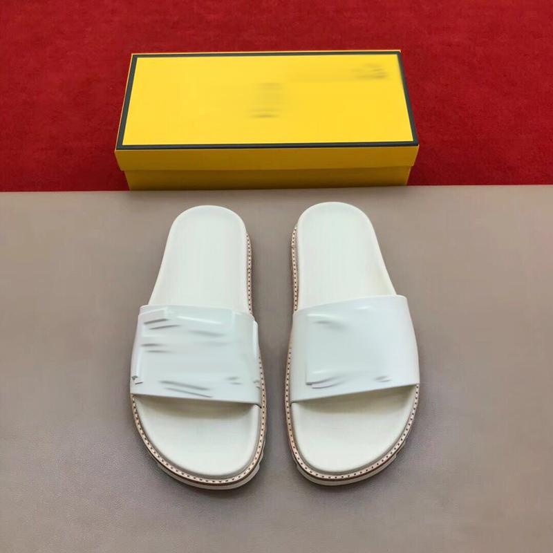 Pretty Mens Summer Sandals Beach Slide Slippers Crocodile Skin Leather Flip Flops Men Sandali Fashion Designs Orange Scuffs Shoes with box size 39-45 -C281