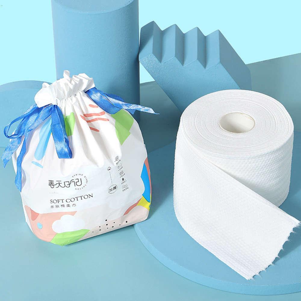 Toalha de papel toalha descartável toalha macia seca molhado duplo propósito rolo não tecido beleza limpador de beleza espessado padrão pérola