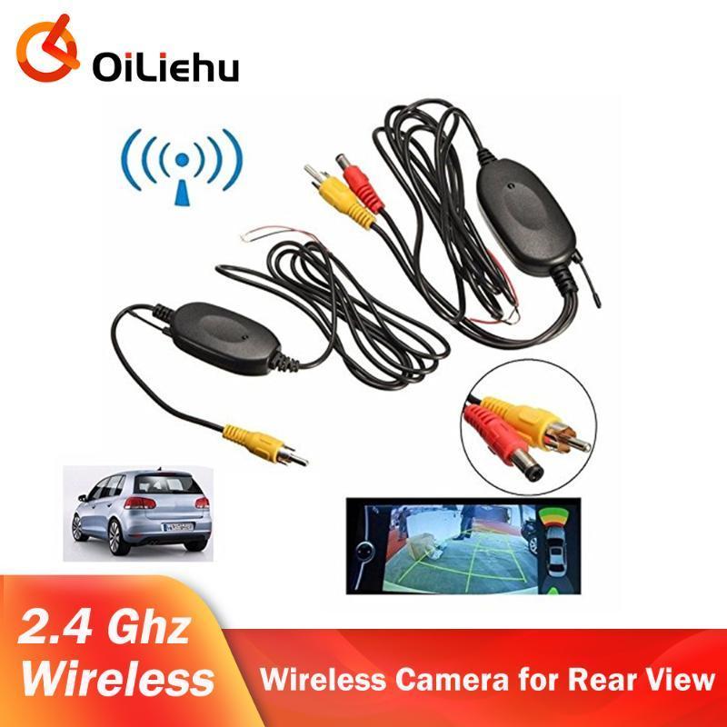 Araba Dikiz Kameralar Park Sensörleri OilieHu 2.4G Kablosuz Video Verici Modülü Kamera ve DVD Monitör Yedekleme Cam için Adapte Alıcı