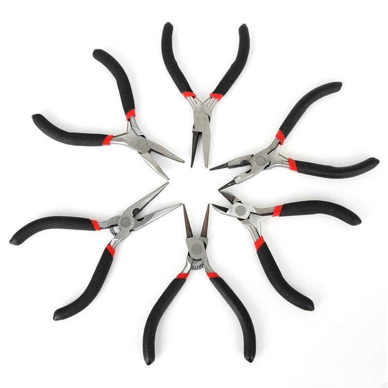 MANGE MULTI-TIPO NEGRO ANTILIZANDO SALIDA Y FIJACIÓN Alicates de joyería Herramientas de herramientas del equipo para la joyería DIY Diseño de accesorios1065 T2