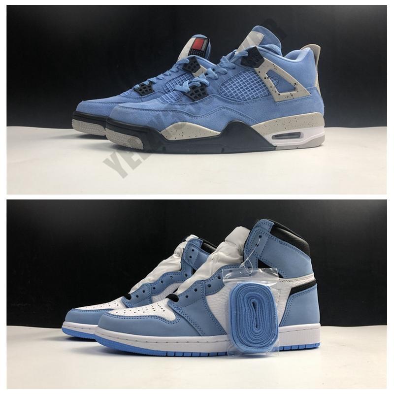 2021 Scarpe da basket University Blue Jumpman 4 4S 1 1 1S Taupe Haze Oil Grey Brown Man OGG all'oggetto atteso per restituire scarpe da ginnastica in vera pelle con scatola CT8527-400