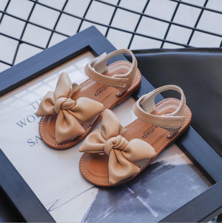 Toddler Shoes Casual Butterfly-knot Non-slip Soft Kids Baby Shoes Summer Children Girls Sandals Princess Open Toe Beach Sandals