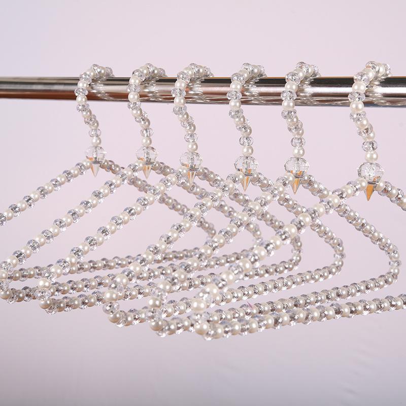 40 см Кристалл Акриловый жемчужный треугольник Симпатичные Вешалки Вешалка для одежды для дугов Свадебное платье Дисплей Юбка Вешалка Организация