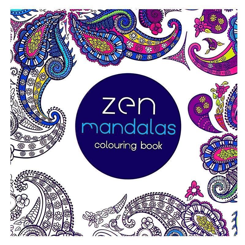 Mandalas de coloriage Livres de livres pour adultes pour enfants Antistress Couleur calme Dessin 18.5 * 18.5cm 24pages Recharge
