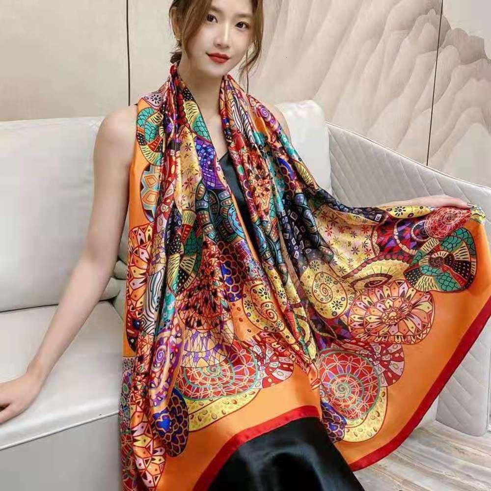Sciarpe di seta DesignerNew di alta qualità per la stampa delle donne