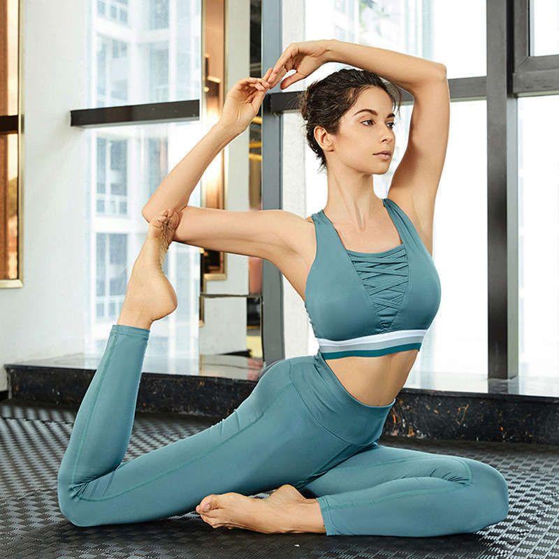 Kadın Eşofman Takım Elbise Hızlı Kuru Koşu Spor Sutyen Eğitimi Yoga Pantolon Fitness