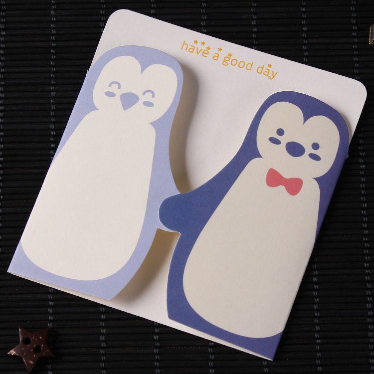 Cartão de bênção do pinguim cartão do jardim de infância