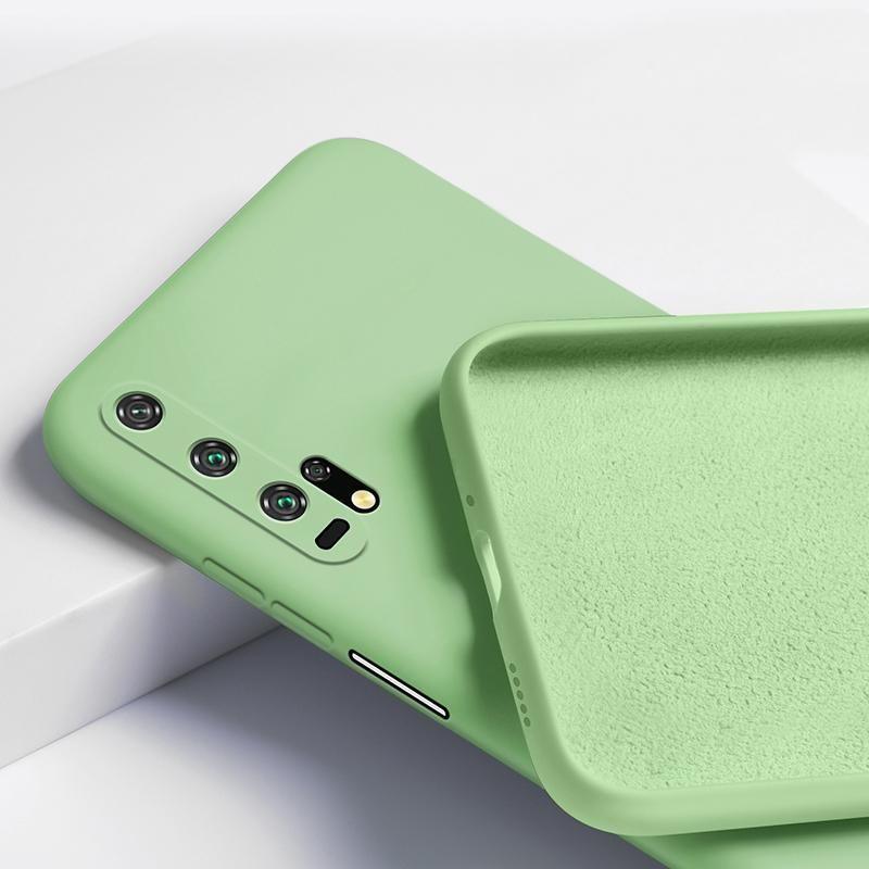 Para Huawei Honra 20 Pro Case Líquido Silicone Flexível Flexível Fosco Matte Macio Tampa Telefone Telefone para Honra 20 30 Pro