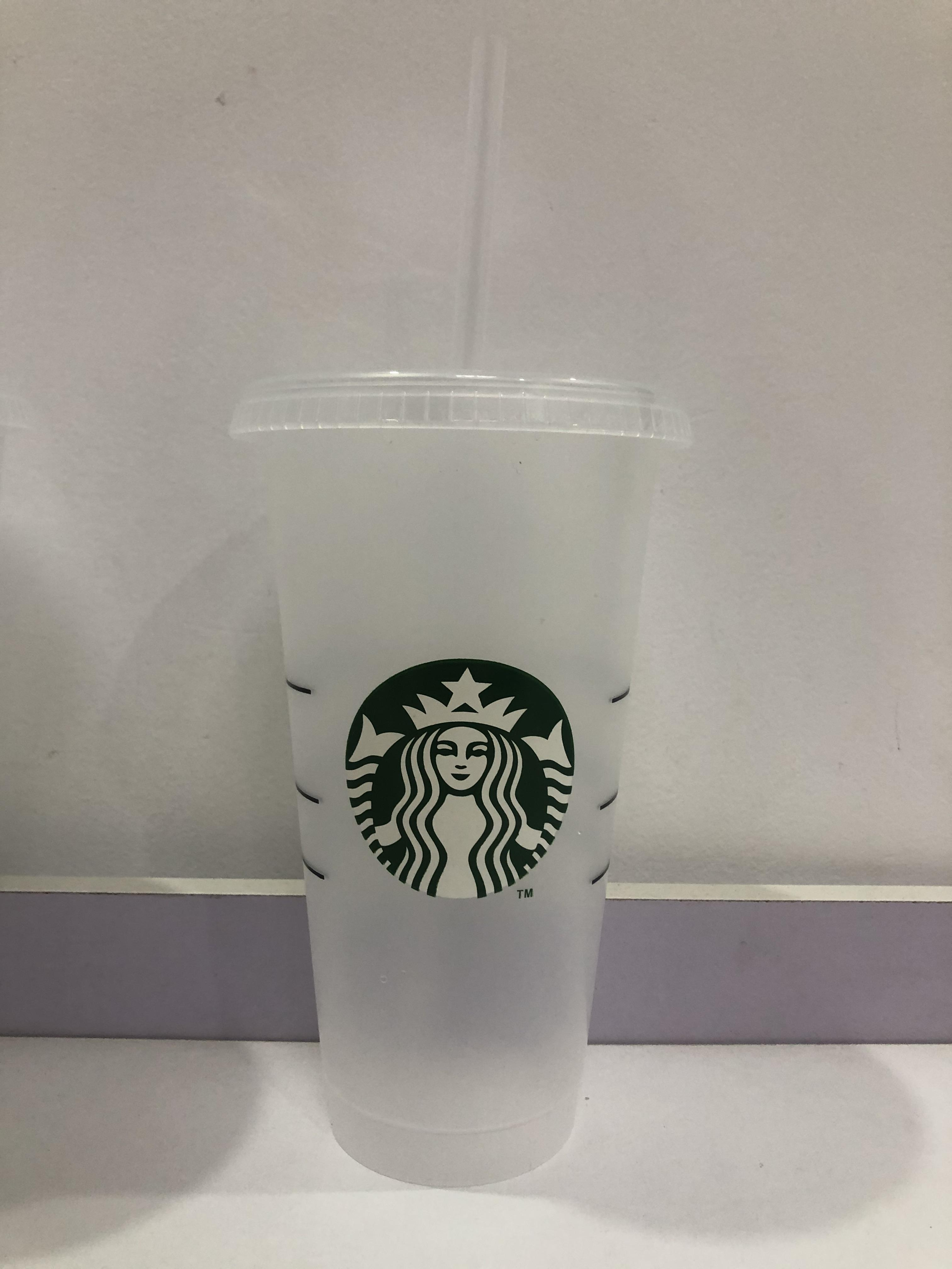 Starbucks 24 onces Coupe en plastique transparente réutilisable, coupe de jus de jus, verre, coupe de boissons 10