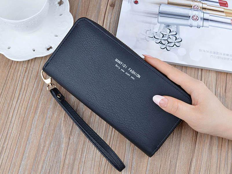 جودة عالية طويل سستة المحفظة أزياء المرأة حقيبة يد أكياس بطاقة سعة كبيرة
