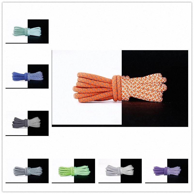 2021 High Quality Waxed Round Shoe Laces Shoestring for Martin Boots Leather Sport Shoes black white mesh Cotton Shoelaces Lacet Z7t2#
