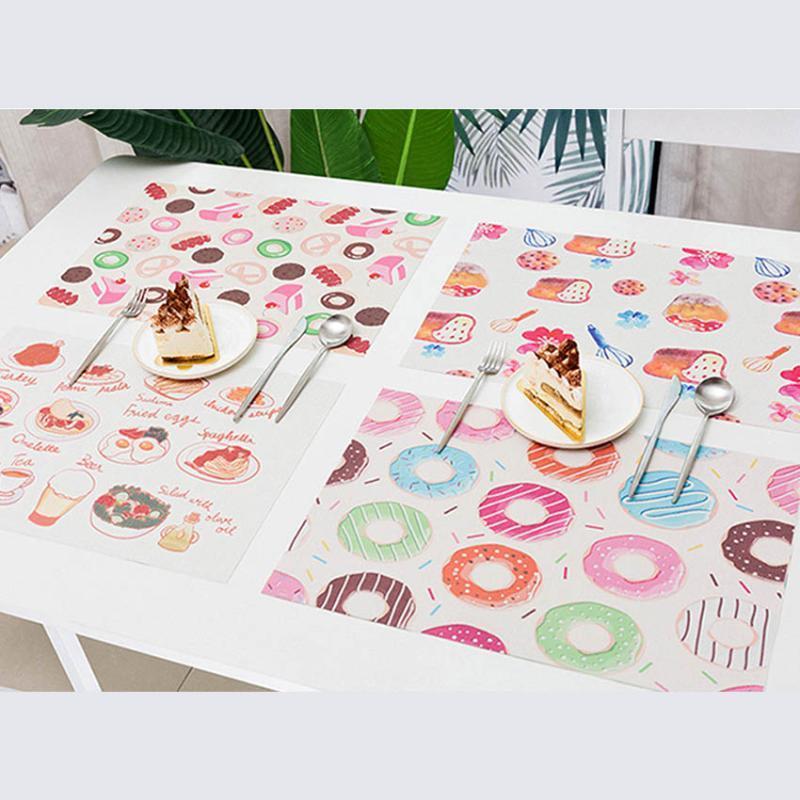Mats Pads Tabla PVC Posavasos Postre Pintura Placemats Adiabatic Placemat Bar Coffee Coff Coffee For Dining Cup Mat