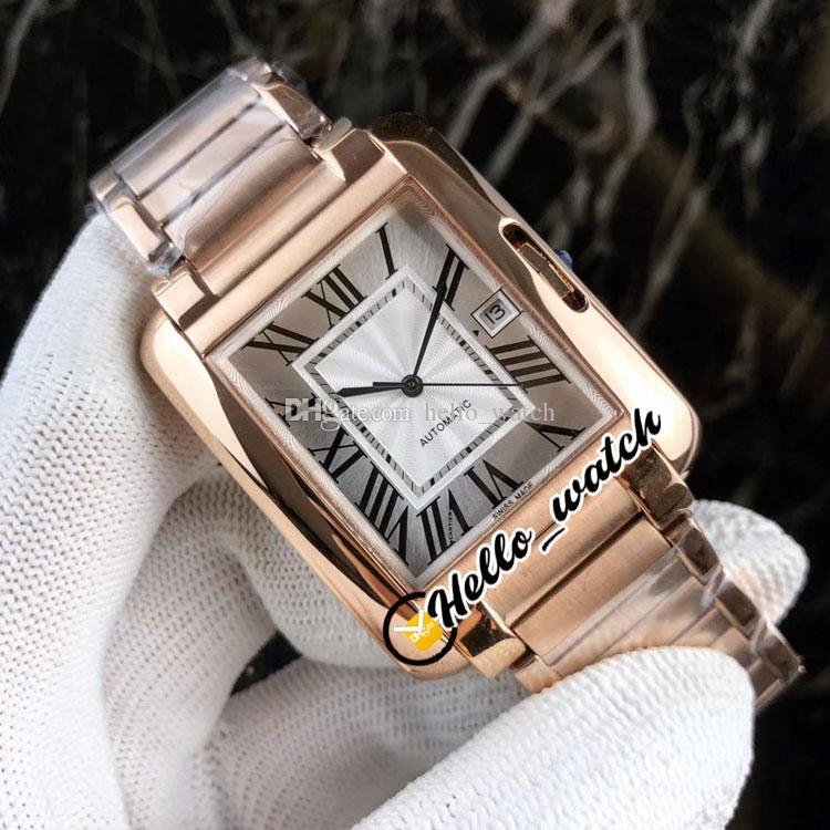 36 mm Fecha W5310008 W5310002 Relojes Dial blanco MIYOTA 8215 Reloj automático para hombre Rosa Pulsera de acero de oro Deporte Hola_watch