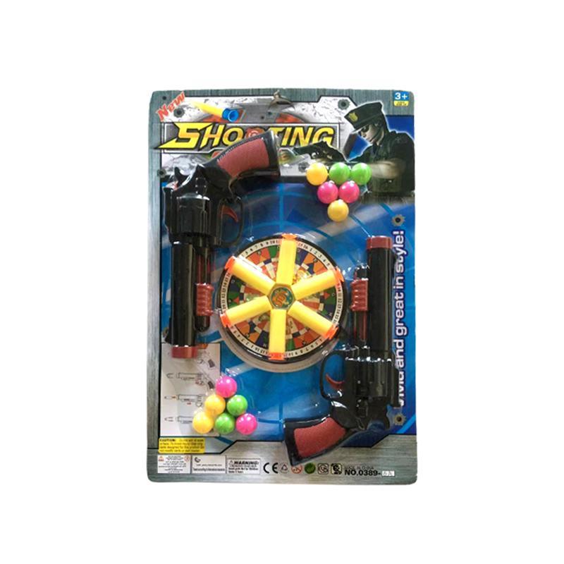 الاطفال لعبة بندقية اطلاق النار البلاستيك مسدس في الهواء الطلق متعة اللعب دليل لينة رصاصة مكبر للأولاد الأطفال الرياضة هدايا