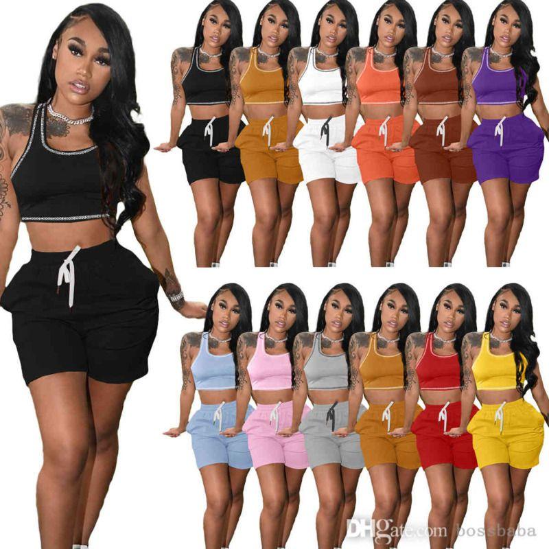 المصممون النساء رياضية الصيف سترة السراويل قطعتين مجموعة زائد حجم الركض دعوى الأزياء الترفيه الرياضة اليوغا وتتسابق 8608