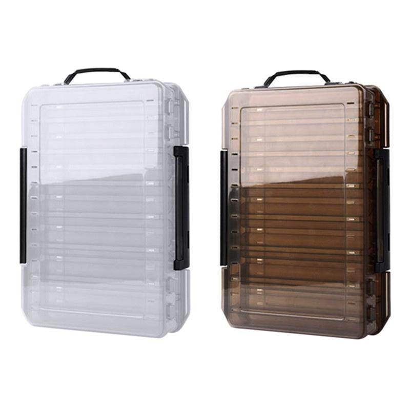 Fächer doppelseitige Angelgerät Plastikköder Box Pesca Caja große Hakenkästen Zubehör