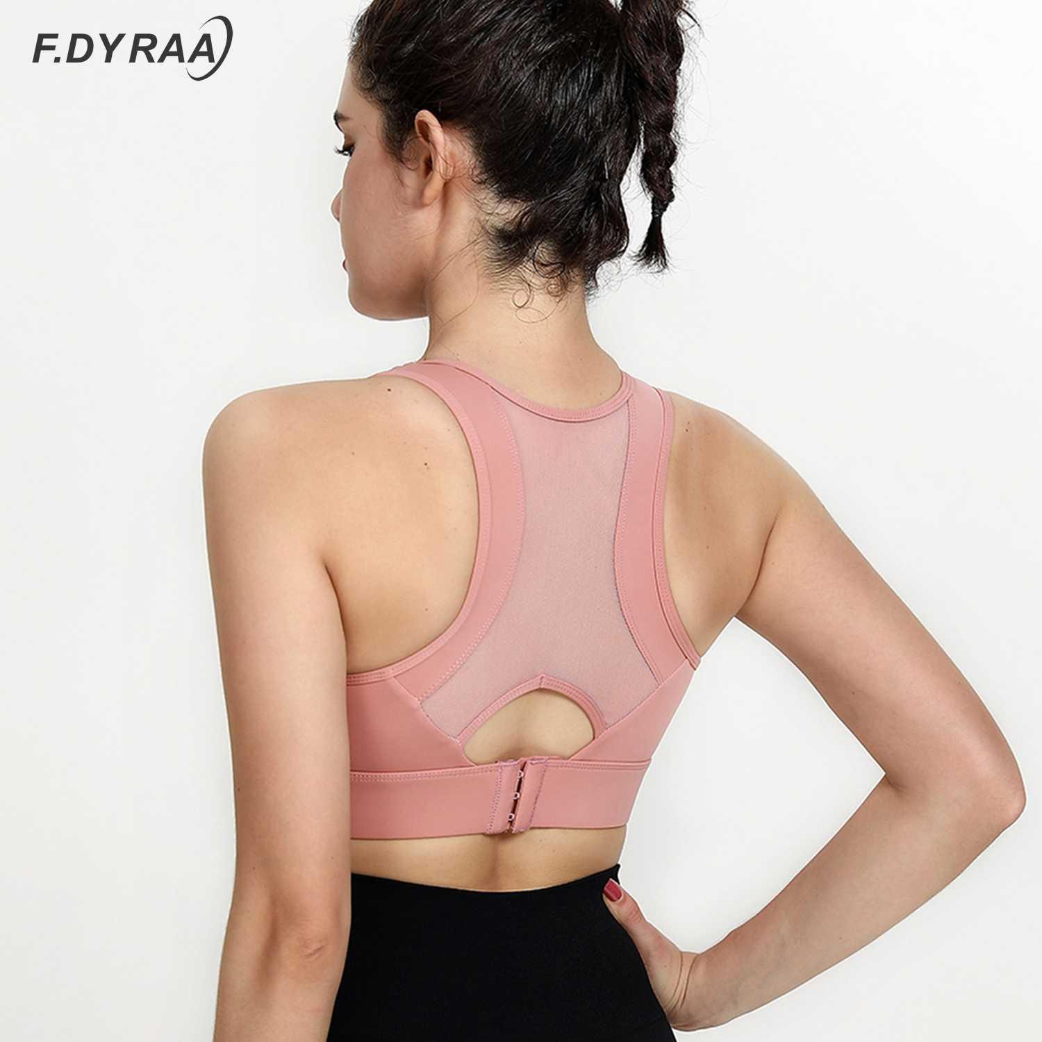 F. DYRAA SPORTBRA High Impact Support Femme Push-up Sexy Beautiful Back Yoga Top Top Top Top Workout Gymnase Concentrer sous-vêtements Borth