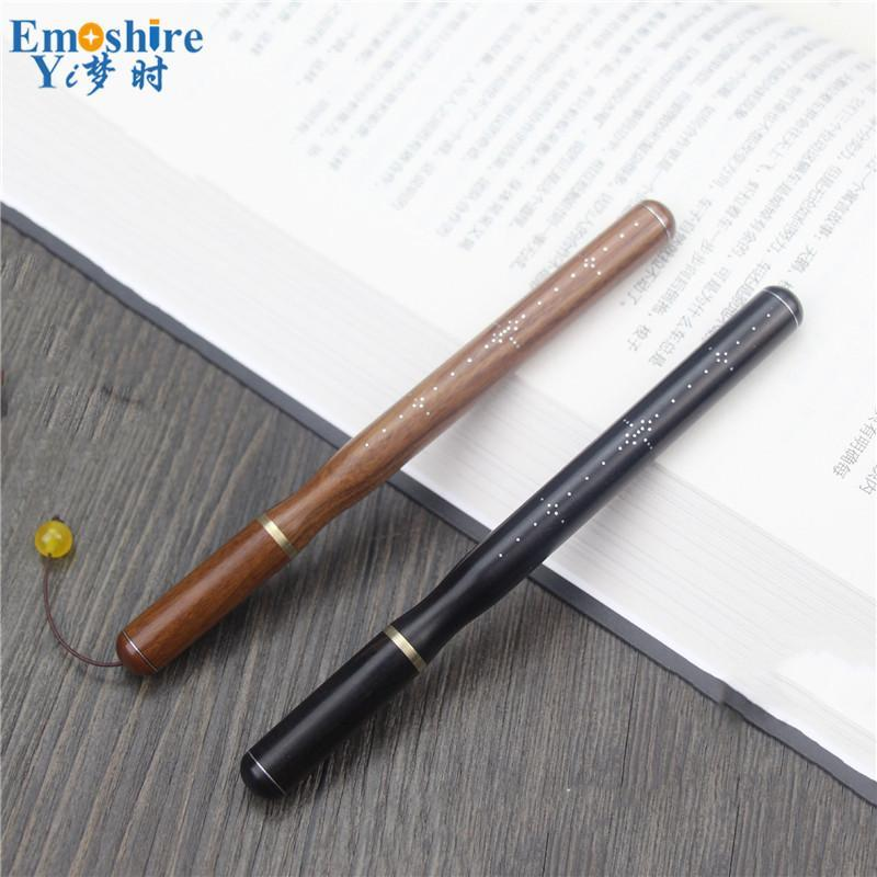 Ballpoint Pens Full Wood Roller Ball Pen Brand Stationery For School Office Writing Supplies Weeding Gifts Dropship P855