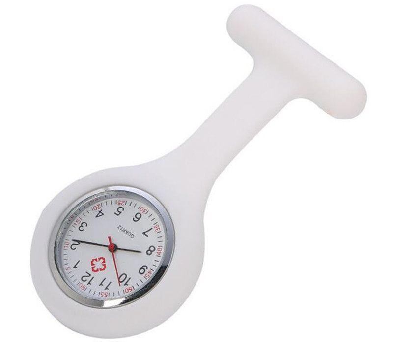 Presente de Natal Enfermeira relógio médico relógio de silicone relógios de bolso moda enfermeira broche fob túbica tampa de túnica relógios de quartzo de silicone gwc6908