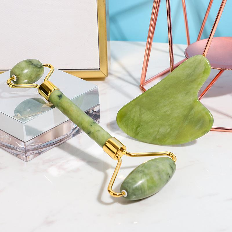 E-Packing GUA SHA Massagewerkzeug zum Kratzen Gesichts- und Körperhautmassage aus Rosenquarzstein für Akupressur-Scrapper Gua Sha Gesichtswerkzeuge