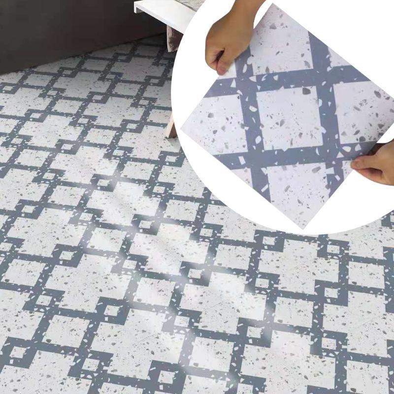 Wandaufkleber Wasserdichter Boden selbstklebende Terrazzo Fliese Badezimmer 30 * 30 Renovierung Kreative Geometrie DIY Dekoration