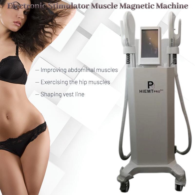 Ems Body Sculpting Muscle Building Slimming Machine com 4 alças gordas queimando as nádegas Levante o dispositivo de beleza