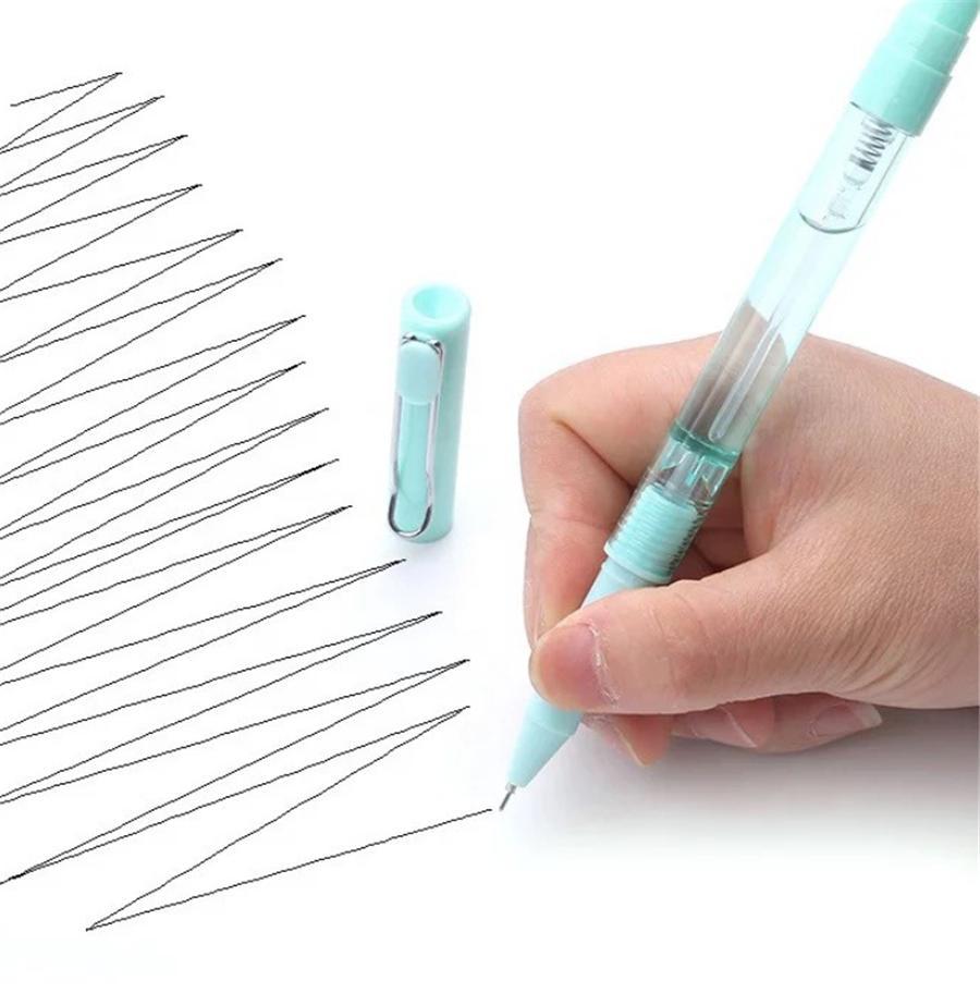 2-in-1 زجاجات رش القلم 0.5 ملليمتر أسود جل السائل القلم للمكاتب والمدرسة الأسود القلم 286 S2