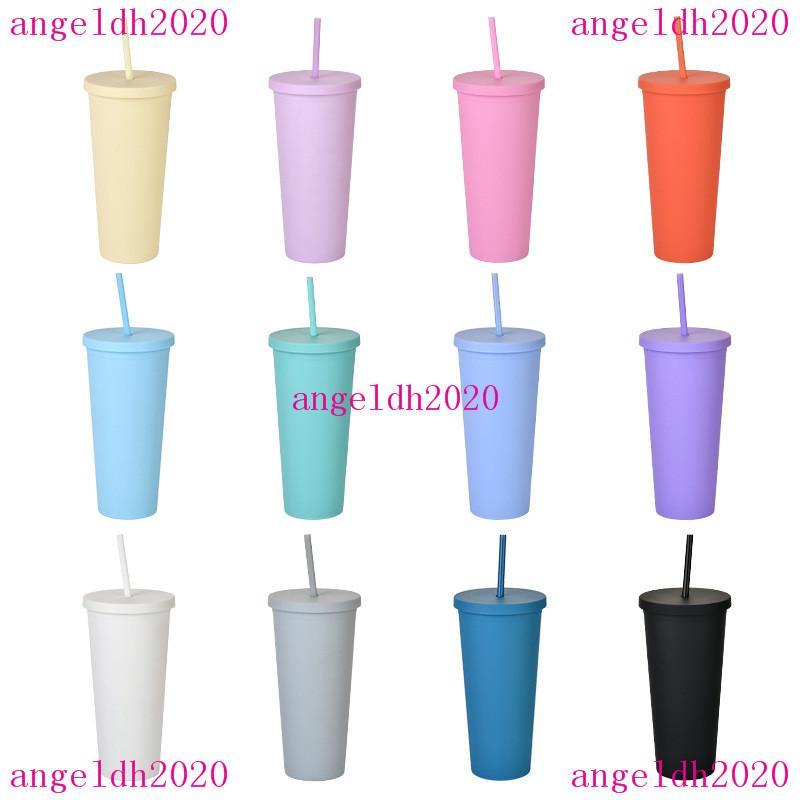Double Plastic Tumbler Sippy Cup mit Deckel 22Oz Straight Custom PrintedFrostes Wasser